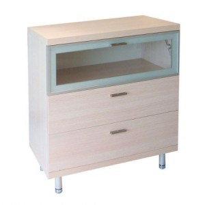 Single Cabinet with Fold Down Glass Shelf